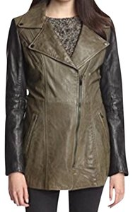 LAMARQUE Olive Green/Black Leather Jacket