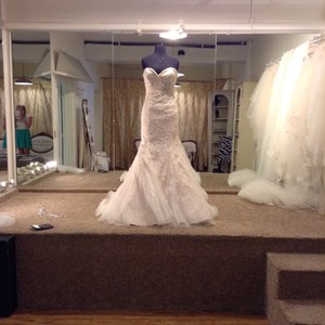 Mori Lee Ivory Champagne Silver Lace 1903 Traditional Wedding Dress Size 4 (S)