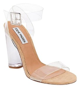 Steve Madden Leather CLEAR Sandals