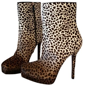 Gucci Pony Hair Animal print Boots