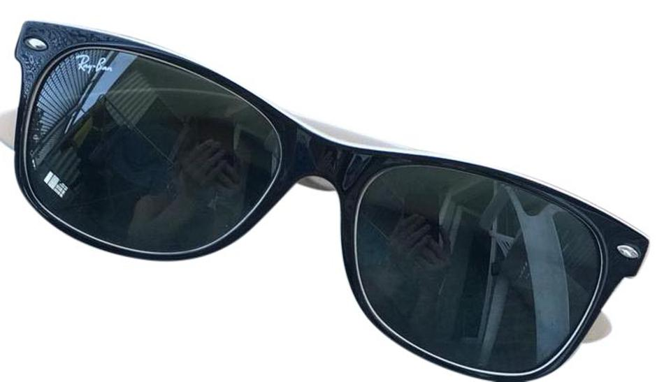 b41a900afb6 Ray-Ban Ray-Ban New Wayfarer RB2132-875-55 Black Wayfarer Sunglasses ...