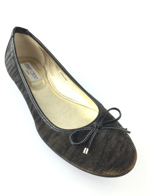 Item - Black and Amber Zebra Lame Glitter Flats Size EU 38.5 (Approx. US 8.5) Regular (M, B)