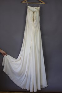 Nicole Miller Off White Modern Wedding Dress Size 10 (M)