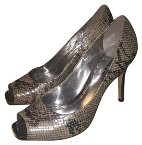 Gianni Bini Platinum Snake Print Pumps