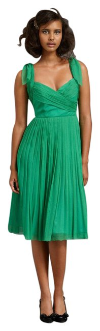 Item - Kelly Green Sway-and-swirl Mid-length Cocktail Dress Size 8 (M)
