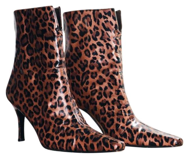 Item - Beige Brown Yellow Animal Print Boots/Booties Size US 8 Regular (M, B)