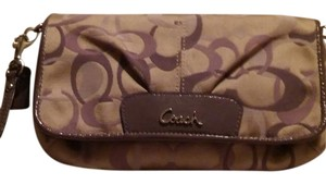 Coach Wristlet in Purple and gold