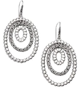 John Hardy Classic Chain Sterling Silver Oval Orbital Earrings