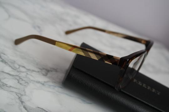 37ba591cb615 Burberry NEW Burberry BE2143 Havana Brown Eyeglasses Frame Metal Ombre Leg  Image 5