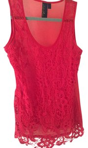 Blue Rain Crochet Top Red