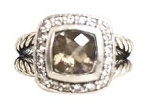 David Yurman Petite Albion Ring with Smoky Quartz & Diamonds