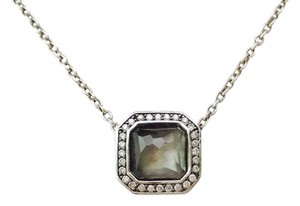 Ippolita Sterling Silver Stella Pendant Necklace in Black Shell & Diamonds