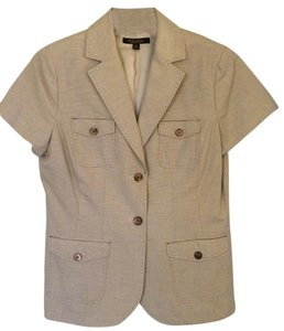 Brooks Brothers Brother Short Sleeve Beige & Brown Blazer