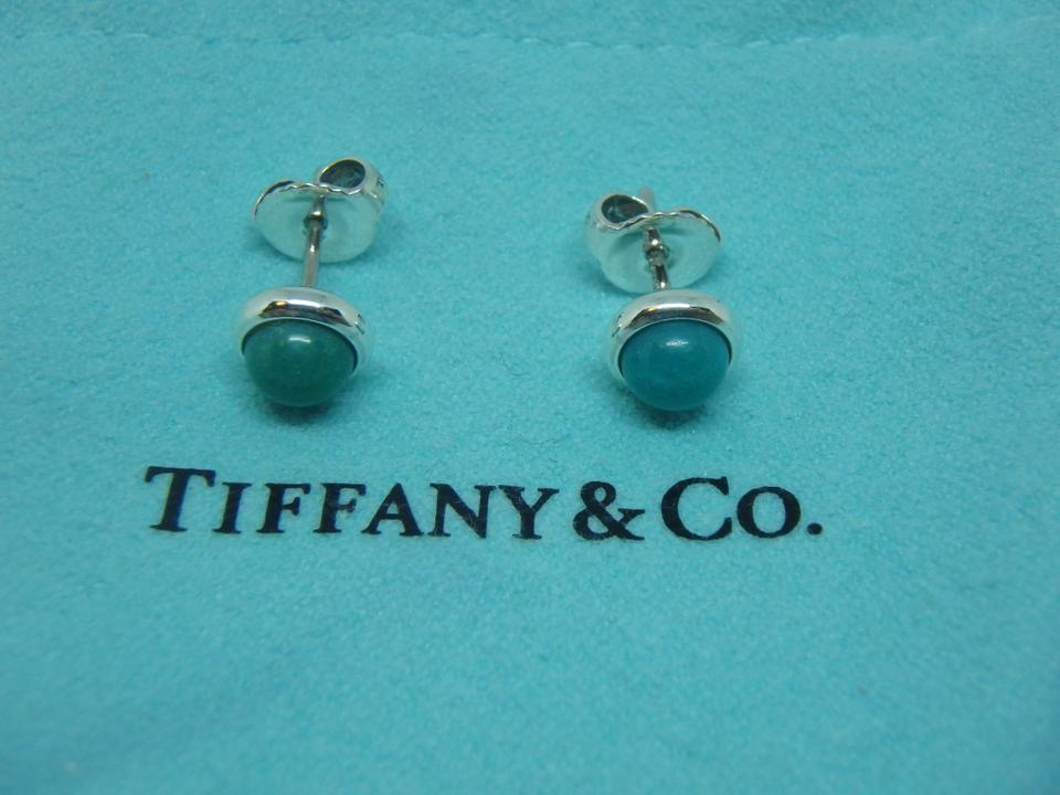 f5db7c22a0f9d Tiffany & Co. Silver and Blue Elsa Peretti Color By The Yard Turquoise  Earrings 27% off retail