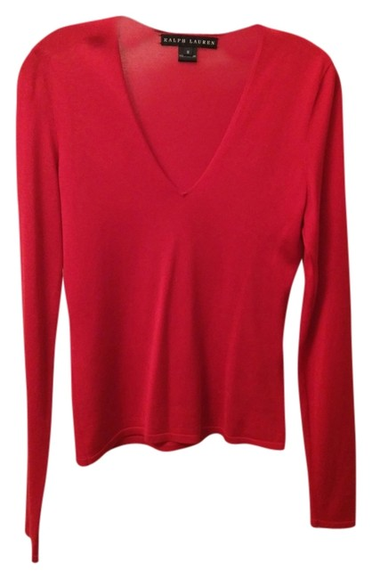 Preload https://img-static.tradesy.com/item/2149626/ralph-lauren-crimson-red-sweaterpullover-size-8-m-0-0-650-650.jpg