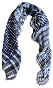 Etro NEW! Etro Milano Large Scarf Made in Italy 100% Silk Square Striped