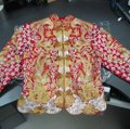 Red Gold Silver Silk Chinese Traditional Wedding Dress Size OS