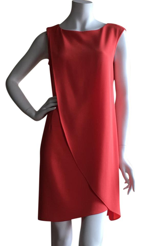 Ann Taylor Coral Layered Short Cocktail Dress Size 4 (S) - Tradesy