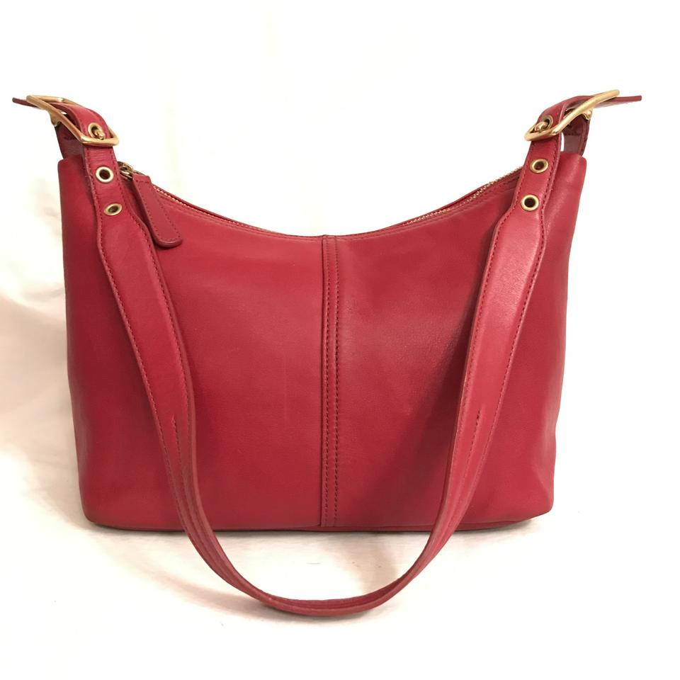 Coach Legacy Hard To Find Size   Color 9883 Hobo Red Gold Leather ... aedc48451d57a