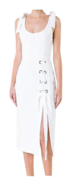 Item - White 'breakers' Laced Split Mid-length Night Out Dress Size 10 (M)
