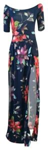 A nice blue and purple mix beautiful color combination Maxi Dress by Boho Chic