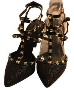 BCBGeneration Studded Faux Suede Black Pumps