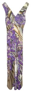 Purple Print Maxi Dress by Jon & Anna Maxi