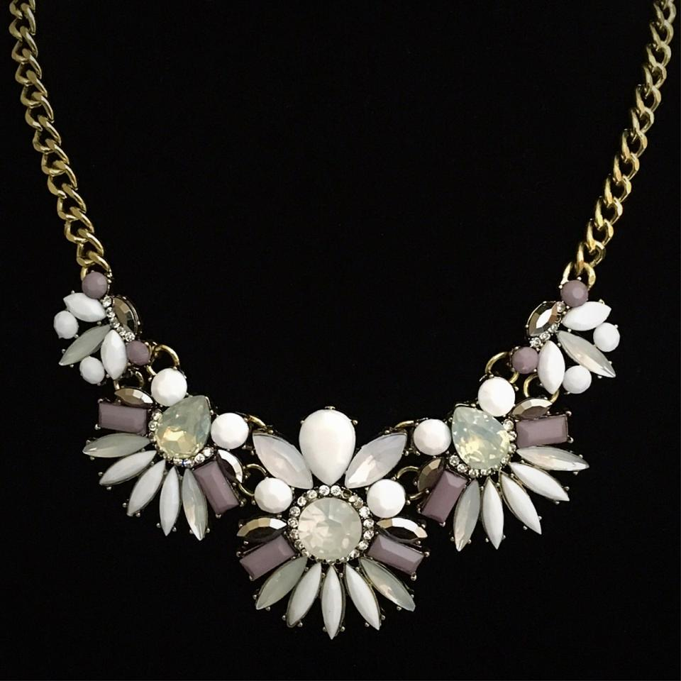 White lavender flower statement necklace tradesy white lavender flower statement necklace mightylinksfo