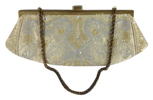 I Santi Off White and Gold Silver Clutch