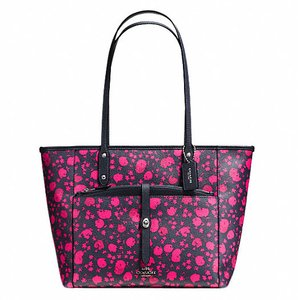 Coach Satchel Shoulder F34103 36876 Tote in SILVER/MIDNIGHT PINK RUBY