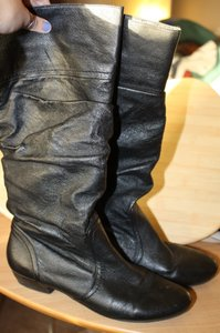 Steve Madden Leather Leather Black Boots