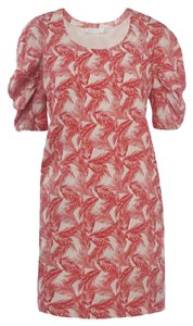 See by Chloé short dress White with Pink Palm Leaves on Tradesy