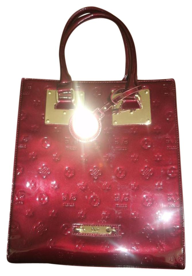 c649be85ad0 Versace 19.69 Italia Tote Purse Handbag Red Patent Leather Backpack ...