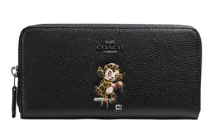 Coach COACH F57390 BASEMAN X COACH ACCORDION ZIP WALLET BLACK