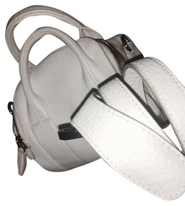 Alexander Wang Rockie Studded Mini Rose Gold Satchel in White