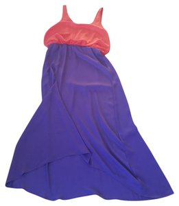 Purple and Coral Maxi Dress by Tinley Road