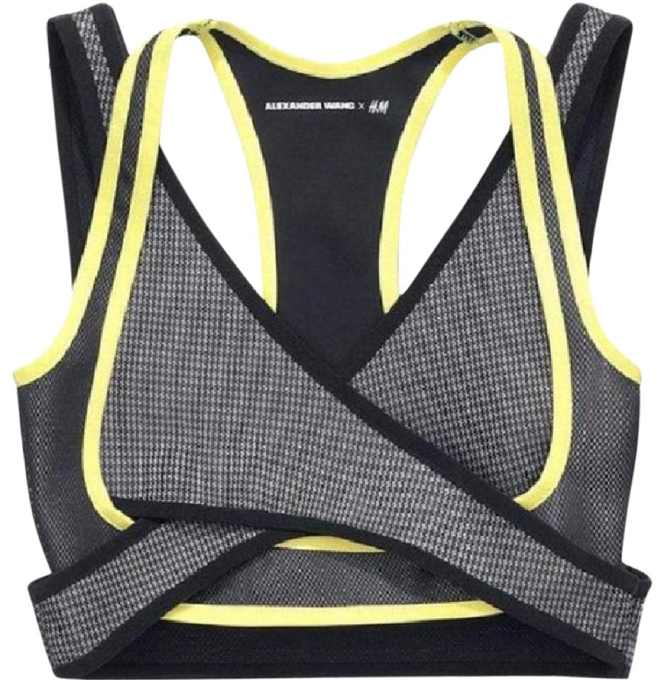 42e7a4fd789 Alexander Wang Black and Yellow X For H m Activewear Sports Bra Size ...