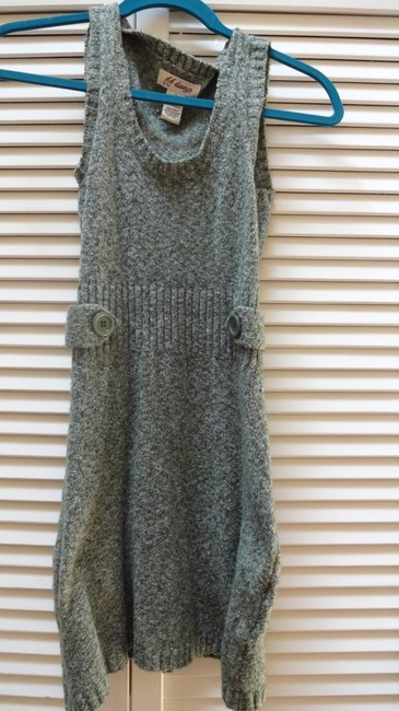 JJ Always short dress Speckled Army Green and White Sweater Jj on Tradesy