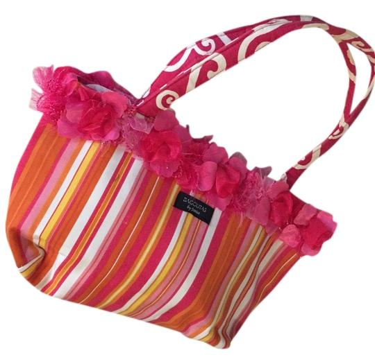 Preload https://item1.tradesy.com/images/multi-stripe-orange-hot-pink-white-and-yellow-canvas-shoulder-bag-2149770-0-0.jpg?width=440&height=440