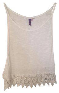Emma & Sam Lace Lf Top White