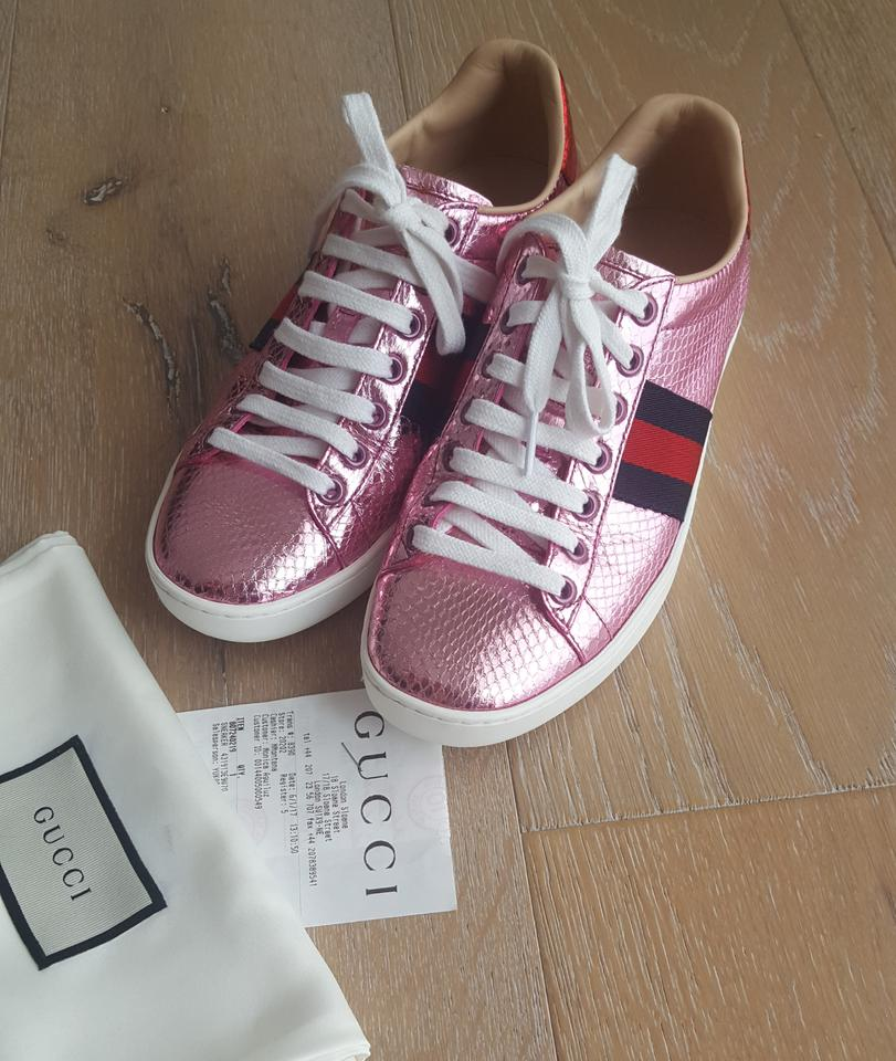 gucci ace snakeskin pink athletic shoes on sale 16 off athletic on sale. Black Bedroom Furniture Sets. Home Design Ideas