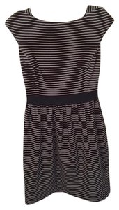 Shoshanna short dress Black with ivory stripes on Tradesy