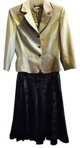 Kay Unger Black Lace Skirt with Jacket