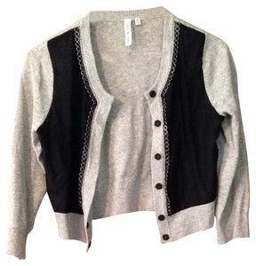 Robbi & Nikki by Robert Rodriguez Metal Accents Wool Silk Cashmere Chain Cardigan