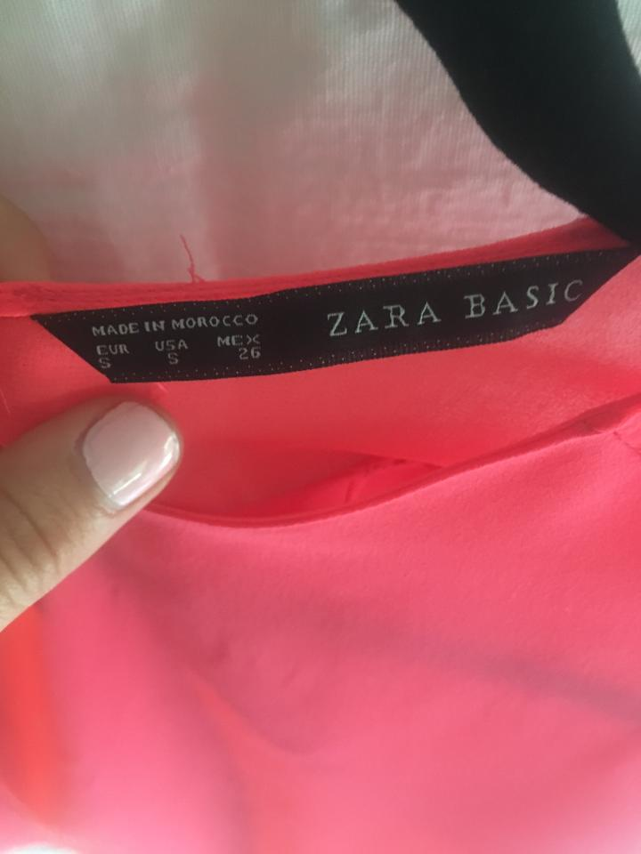 e23f71467abda5 Zara Sleeveless Tank Open Back Top pink coral Image 2. 123