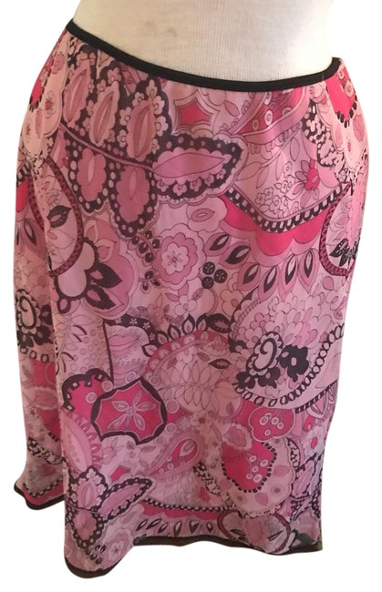Item - Variations Of Pink and Brown Paisley Skirt Size 12 (L, 32, 33)