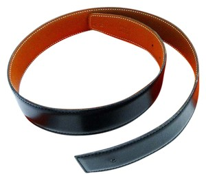 Herms Noir and Gold Reversible Belt Kit Strap