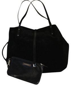 Tiffany & Co. Leather Suede Reversible Tote in Black