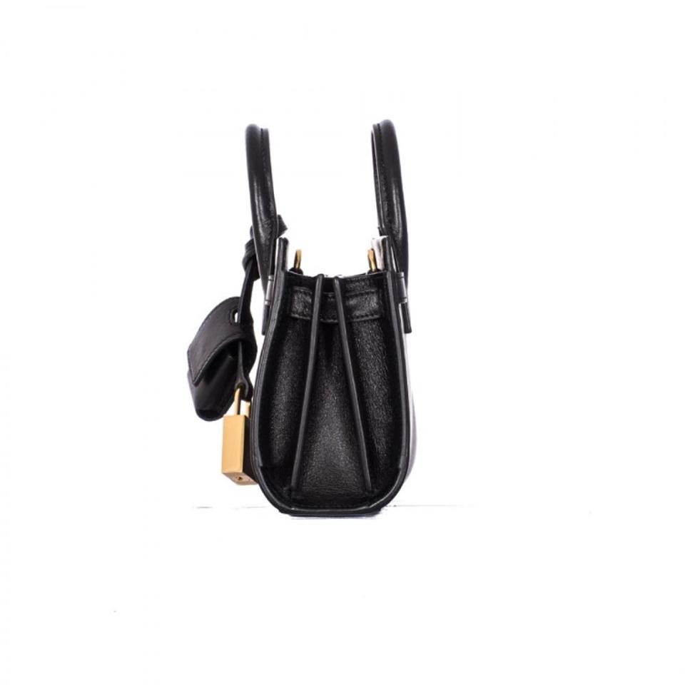 e9122f884 Saint Laurent Sac de Jour Toy Black Calfskin Leather Cross Body Bag ...