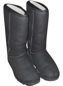 UGG Boots Tall Shearling Black Boots